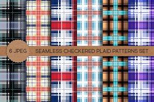 Seamless Checkered Plaid Patterns