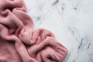 Pink knited sweater