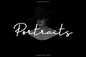 Portraits - Signature font