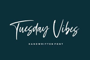 Tuesday Vibes - Handwritten Font