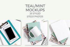 Teal/Mint Mockups (20 Images)