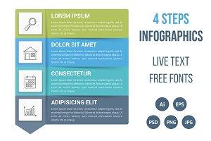 Four Steps Infographics