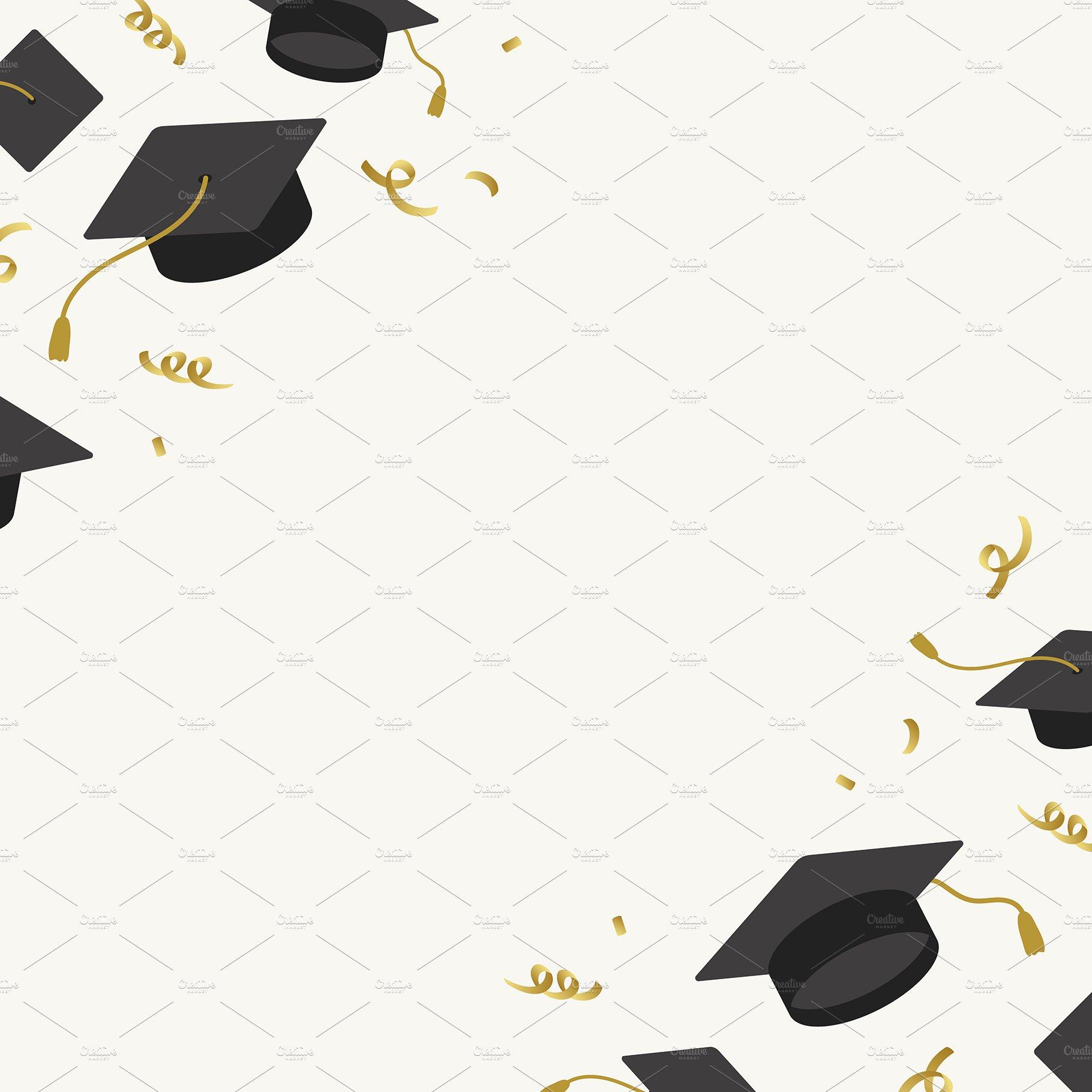 Graduation Background Mortar Vector ~ Graphics ~ Creative ...
