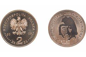 Polish 2 zloti coin Czeslaw Niemen