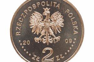 Polish 2 zloti coin