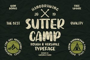 SUTTER CAMP - Adventure Typeface