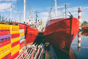 Fishing boats in the port of the