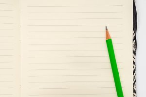 Blank page of lined notebook with