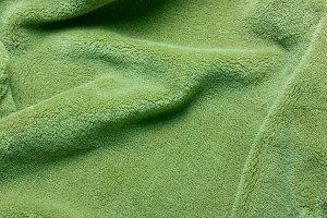 Green soft teddy fleece texture. T