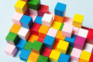 Color cubes in the puzzle. Concept c