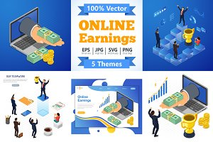 Isometric Internet Online Earnings