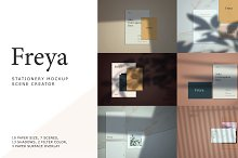 Freya - Mockup Kit Scene Creator by  in Product Mockups
