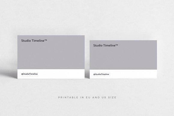 Timeline Business Cards