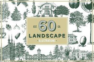 Landscape Vintage Illustrations