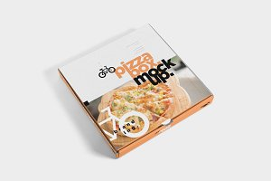 5 Pizza Box Mockups