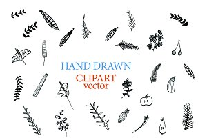 Hand drawn clipart vector