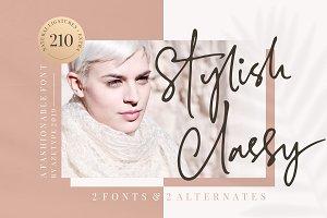 50% OFF • Stylish Classy (2 Fonts)
