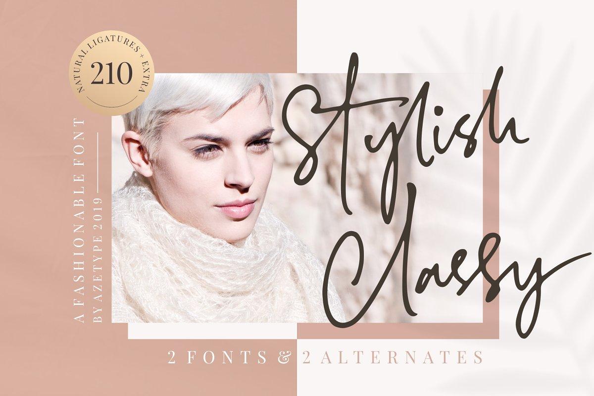 SALE! Stylish Classy (2 Fonts) ~ Script Fonts ~ Creative Market