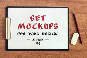 Set Mockups for your design.