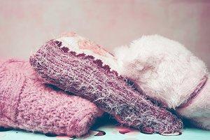 Beautiful woolen sweaters in pink