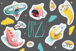 Crazy stickers Collection