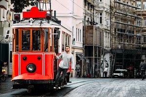 Old Turkish tram on Istiklal street
