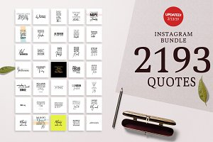 2193 Mega Bundle Instagram Quotes