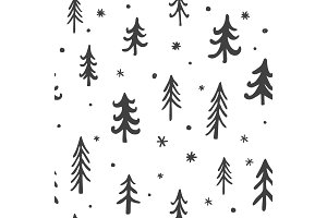Trees Seamless Vector pattern