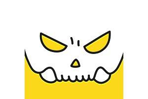 Human evil skull vector smile. Jolly