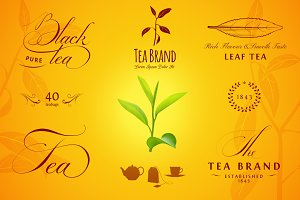 Tea Labels, Logos and Elements