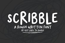 Scribble - A Rough Written Font by  in Display Fonts