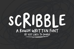 Scribble - A Rough Written Font