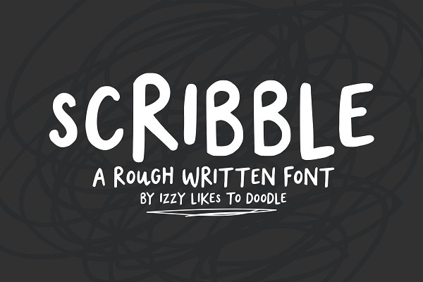 Fonts - Scribble - A Rough Written Font