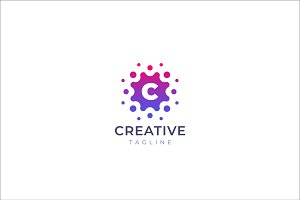 Вots letter C logo design