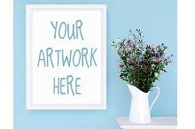 Mockup frame 8x10, wildflowers