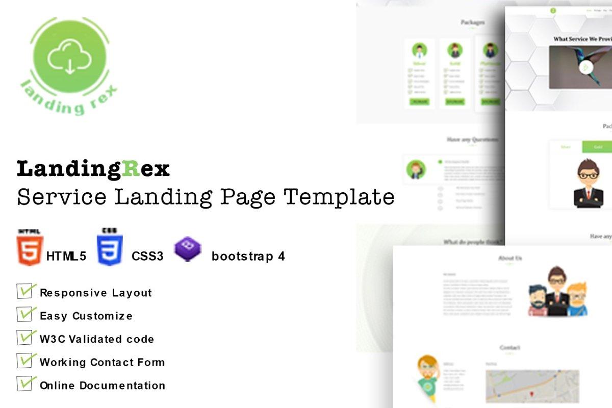 LandingRex Responsive Squeeze Page