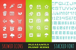 Icon & Font Bundle Pack