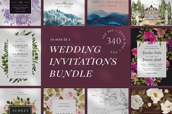 10 In 1 Wedding Invitations Bundle Invitation Templates