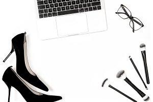 Notebook high heels shoes feminine