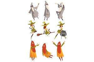 Sorcerers Practicing Wizardry Set