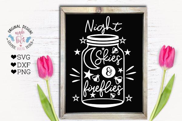 Night Skies and Fireflies Cut File