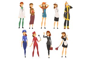 Women of Different Professions Set