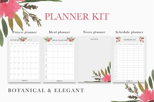 Botanical planner kit printable