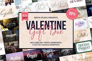 Valentine Gift Box Font Bundle