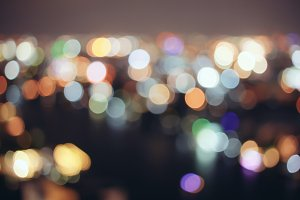 Abstract bokeh cityscape background