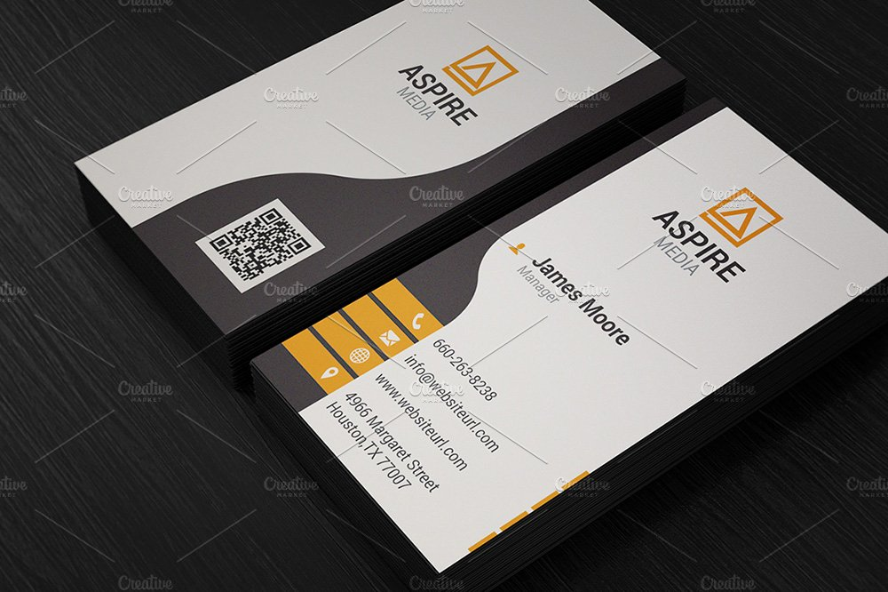 Clean Corporate Business Card - Business Card Templates | Creative ...