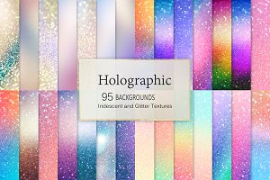 Holographic + Iridescent Backgrounds