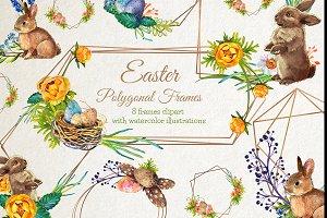 Easter Polygonal Frames