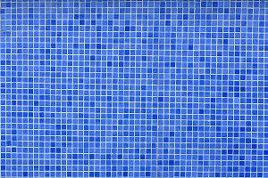 Empty blue pool
