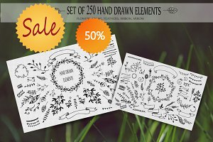 250 HandSketched Vector Set.